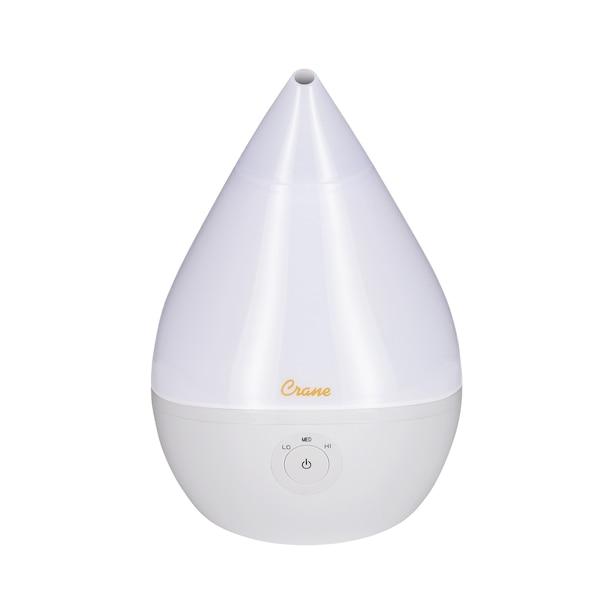 Crane - Ultrasonic Cool Mist Humidifier - White Droplet