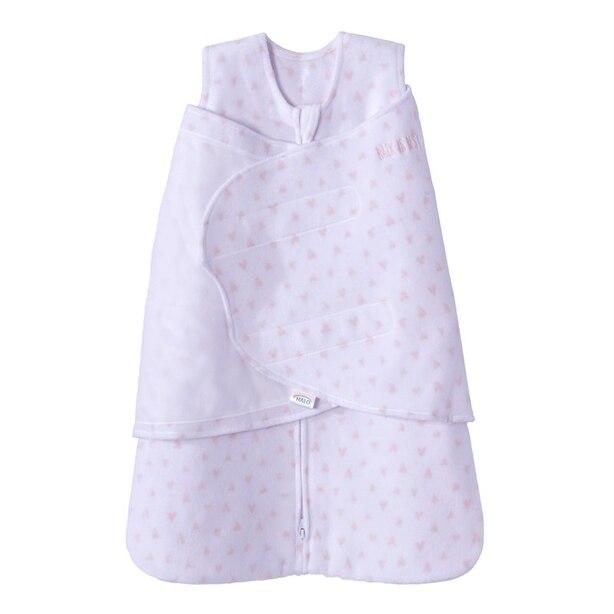 Halo® Sleepsack® 3-Way Adjustable Swaddle 100% Micro-Fleece 3 TOG Mini Hearts Pink Small 3 to 6 Months