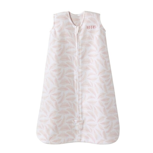 Halo Sleepsack Wearable Blanket  1 TOG Leaves Pink Small Newborn to 6 Months