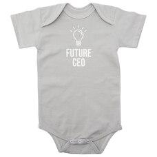"""Bella Tunno® Onesie """"Future CEO"""" 6-12 Months"""