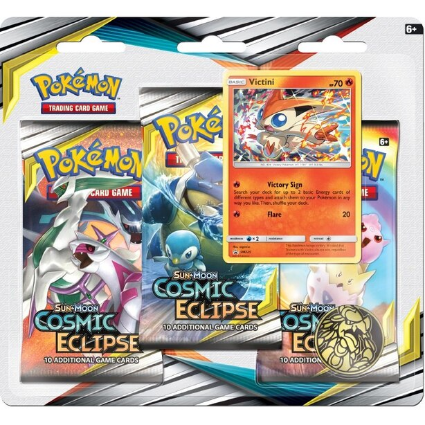 Pokémon TCG: Sun & Moon--Cosmic Eclipse Three-Booster Blister