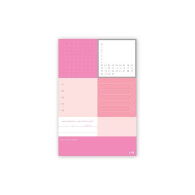 Notepd Smartdate Bloc Pink 7ct
