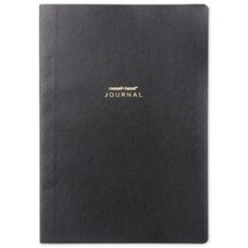 RUSSELL AND HAZEL A5 VEGAN LEATHER JOURNAL BLACK
