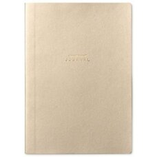 RUSSELL AND HAZEL A5 VEGAN LEATHER JOURNAL GOLD