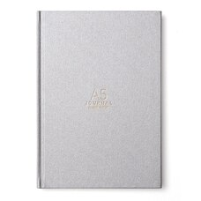 RUSSELL AND HAZEL A5 BOOKCLOTH JOURNAL NICKEL