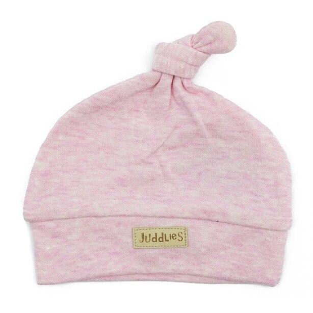 Juddlies Newborn Cap, Pink Fleck