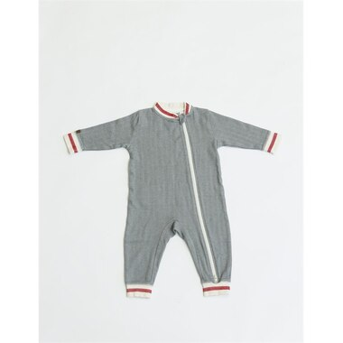 Juddlies Cottage Collection Playsuit - Driftwood Grey - Brand New Baby
