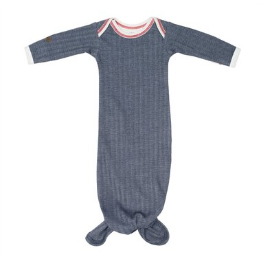 Juddlies™ Baby Cottage Nightie Organic Cotton Lake Blue 0 to 3 Months