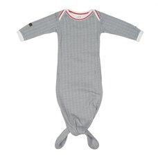 Juddlies Designs™ Baby Cottage Nightie Organic Cotton Driftwood Grey 0 to 3 Months