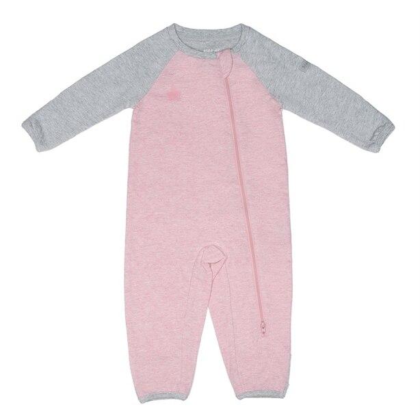 Juddlies™ Baby Raglan Playsuit Organic Cotton Dogwood Pink Newborn