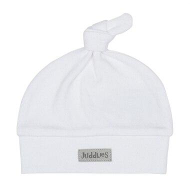 Juddlies Designs™ Newborn Baby Hat Organic Cotton White Grey