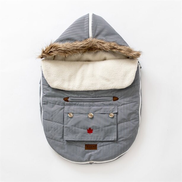 Juddlies - Car Seat & Stroller Bag - Herringbone Grey