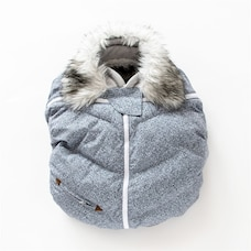 Juddlies - Infant Car Seat Cover - Salt & Pepper Grey