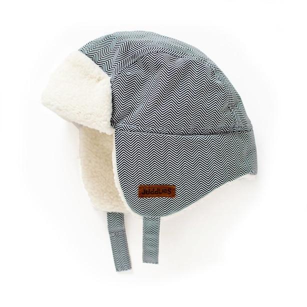 Juddlies - Winter Hats - Herringbone Grey - 0-6 months