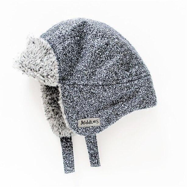 Juddlies - Winter Hats - Salt & Pepper Black - 6-12 months