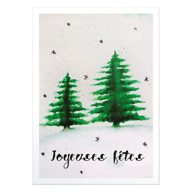 Boxed Cards - Trees and light snow
