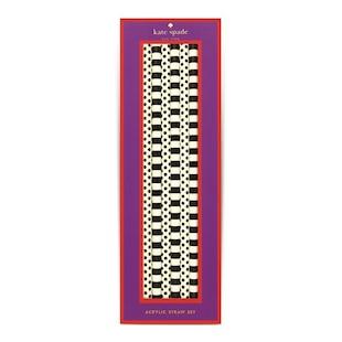 Kate Spade New York® Acrylic Straws - Black Dots