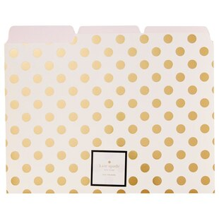 Kate Spade New York® Gold Dot File Folders - Set of 6
