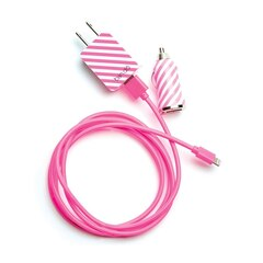 Ban.do Power Trip Lightning Wall & Car Charger Set - Ticket Stripe