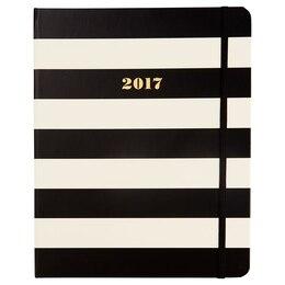 2016-2017 KSNY Large Spiral Planner, Black Stripes