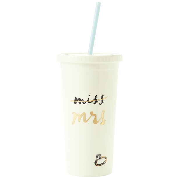 Kate Spade New York© Miss-to-Mrs. Tumbler with Straw