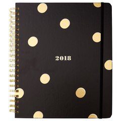 2017-2018 17 Month Kate Spade New York Mega Spiral Planner - Scatter Dot