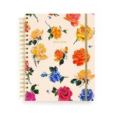 2019-2020 17-Month Large Spiral Planner Coming Up Roses