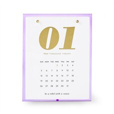 kate spade new york acrylic desk calendar lilac
