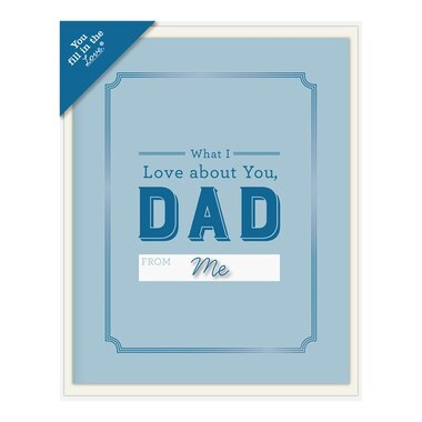 Fill In The Love Card Booklet - Dad