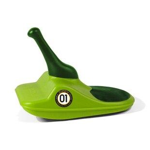 Zipfy Mini Luge Snow Sled - Green on Green