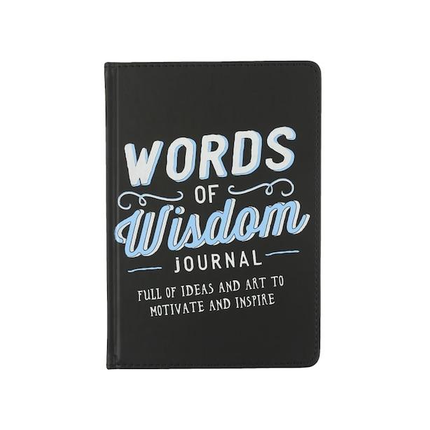 Words of Wisdom Inspirational Journal - Black