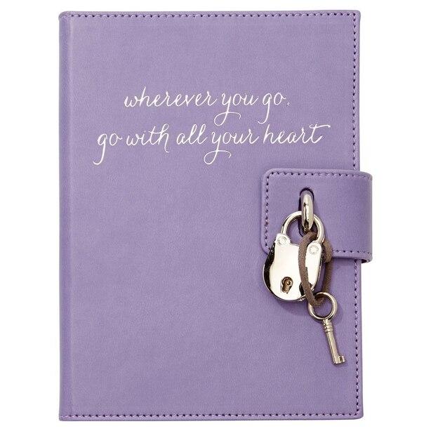 Locked Diary Wherever You Go - Lavender