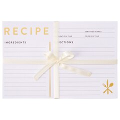 Recipe Cards - Black and Gold, Set of 24
