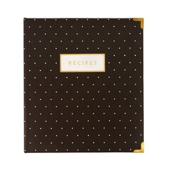 Gold Corners Recipe Book - Grey