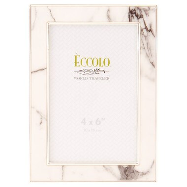 Marble Frame White Gray 4 X 6 By Eccolo Desk Frames Gifts