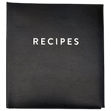 INDIGO LARGE RECIPE BINDER BLACK