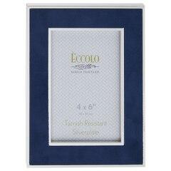 Cadre en suède - Bleu marine, 4po x 6po