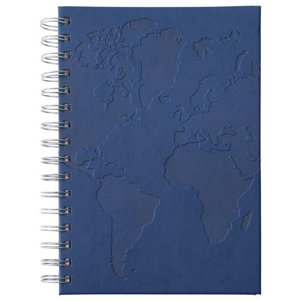 SPIRAL NOTEBOOK NAVY MAP