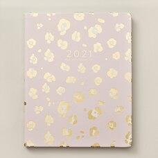 2020-2021 17-Month Agenda Gold Pink Leopard