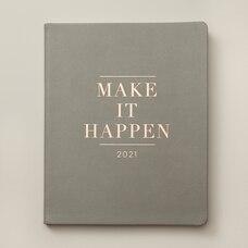 2020-2021 17-Month Agenda Grey Quote