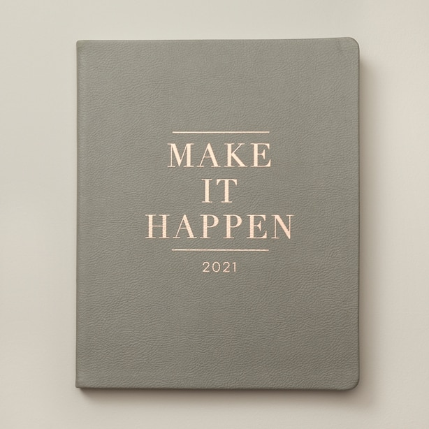 August 2020 - December 2021 Grey Quote Planner