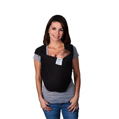 Baby K'tan Cotton Baby Carrier - Black, Large