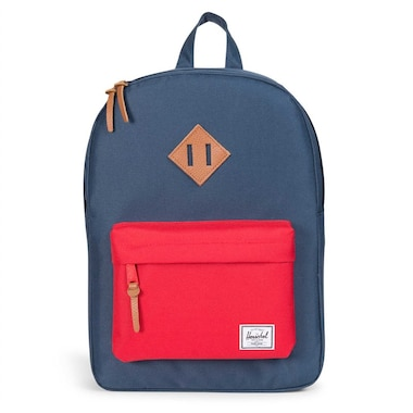 a14dcefb67ad Herschel Heritage Youth Backpack Navy Red Tan Synthetic Leather by Herschel  Supply Company Ltd