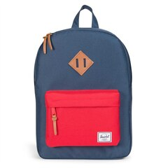 Herschel Heritage Youth Backpack Navy Red Tan Synthetic Leather