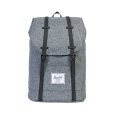 HERSCHEL RETREAT BACKPACK - RUBBER RAVEN   BLACK 2b3c9cf381179