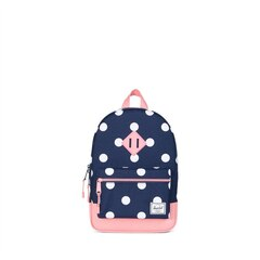 HERITAGE KIDS BACKPACK, PEACOAT POLKA DOT STRAWBERRY ICE