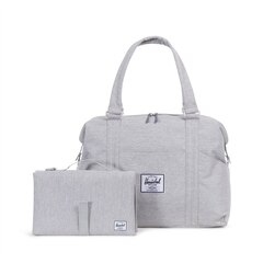 STRAND SPROUT DIAPER BAG, GREY CROSSHATCH