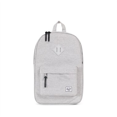HERSCHEL HERITAGE MID VOLUME BACKPACK -LIGHT GREY CROSSHATCH  GREY RUBBER  by Herschel Supply Company Ltd  22e4451fff0e2
