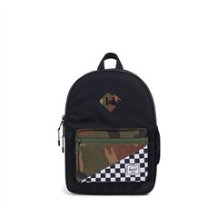 Herschel Heritage Youth Backpack Black, Woodland Camo, and Checkers 5 to 7 Years