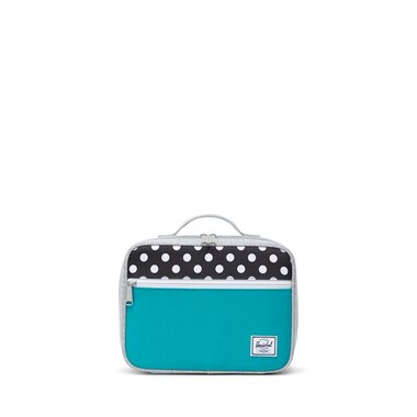 Herschel Pop Quiz Lunchbox Tile Blue and Polka Dots